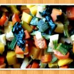 Petits légumes frais pour une recette équilibrée