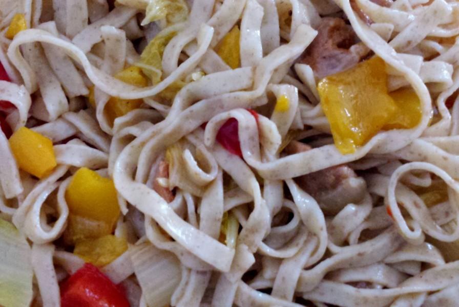 Poêlée de légumes et pâtes à l'épeautre