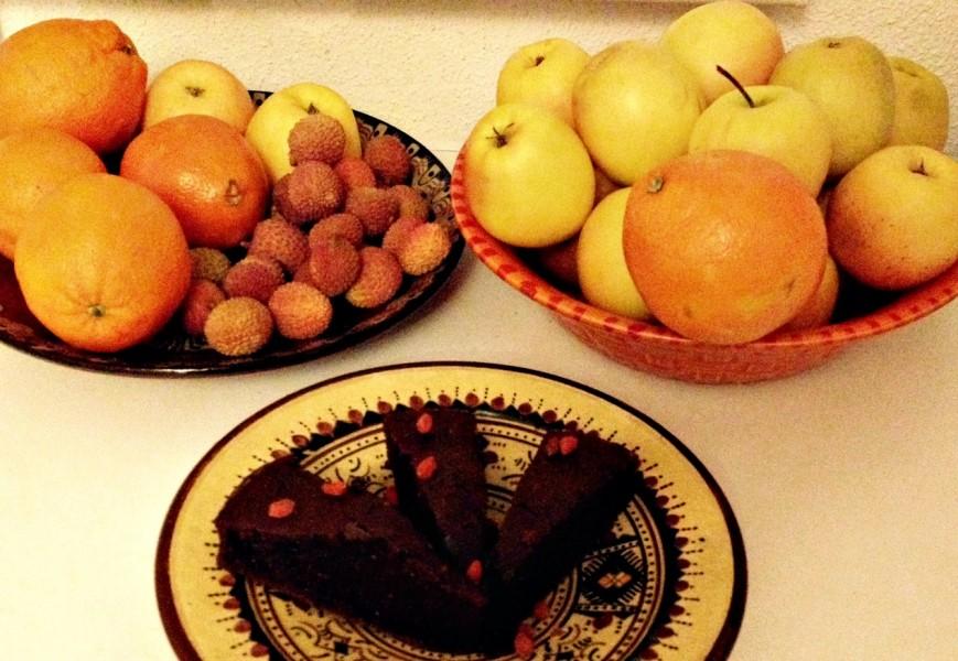 Gâteau au chocolat sans sucre et sans beurre
